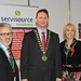 Showtel Chris Brayden & Deirdre Treanor, Servisource Recruitment and Stephen McNally, IHF President