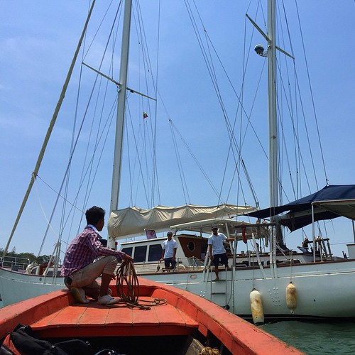 Hello Myanmar , this is my ride for the next week. Happy Songkran! #boat #sailing