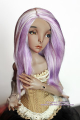 Wig for BJD Lillycat MSD (Kimirra) Tags: constantine mohair bjd abjd lillycat colorfulhair dollwig kagamidesign
