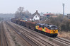 First shot of the northbound logs this year. 56105 56078 6M51 0856 Teigngrace - Chirk Kronospan Colas Rail at Undy Newport 11.03.2015 (The Cwmbran Creature.) Tags: rail class british 56