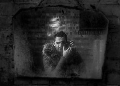 Always time to check myself out (BenChapmanphoto) Tags: selfportrait man reflection male texture me wall dark mirror pattern fuji ben opposite decay bricks dirty lincolnshire reflect fujifilm february derelict crusty parka selfie urbex 2015 longsutton xpro1 fujifilmxpro1 xf27mmf28 27mmf28