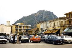 Grce, vacances de Pques 1987. Nauplie, citadelle vnitienne et fort Palamde (Marie-Hlne Cingal) Tags: 1987 greece grce  hells  diaponumrise