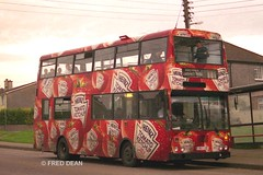 Bus Eireann KD184 (184JZL). (Fred Dean Jnr) Tags: cork doubledecker bombardier heinztomatoketchup buseireann october1998 alloverad kd184 lotabeg buseireannroute208 184jzl