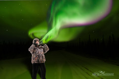 Mike Aurora Borealis (mikeyasp) Tags: november winter light sky snow cold color ice photoshop stars hats jackets northernlights auroraborealis mikelevine