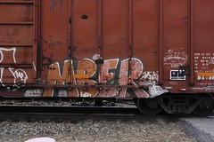 Mber (Revise_D) Tags: graffiti trains network re graff hm freight revised nsf trainart mber fr8 bsgk benching fr8heaven fr8aholics benchingsteelgiants freightlyfe