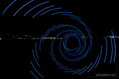 Light painting: The blue spiral (christian.rey) Tags: blue light painting spiral sony led alpha 77 bleue 1650