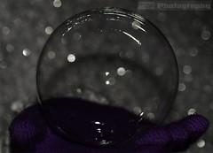 Bubble Bokeh (C.M_Photography) Tags: purple bokeh flash gloves bubble