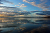 Reflections on Borth (John Ibbotson (catching up!)) Tags: sea sun reflection beach wales clouds coast seaside shoreline shore ceredigion refelctions borth