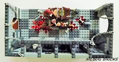 Top view of dungeon. (Nilbog Bricks) Tags: lego dungeon lotr goblin gore torture custom hobbit orc minifigure moc brickforge brickquest