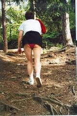 Black mini skirt (margil pippin) Tags: panties wife upskirt pinkpanties wifespanties