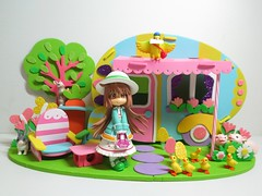 Easter Trailer2 (annesstuff) Tags: rabbit bunny easter toy japanese miniature trailer pinkyst rement babysue vanceproject annesstuff foamcraft