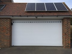 SWS roller shutter with vision slats. Friston  March 2015
