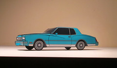 '80 Chevy Monte Carlo (jcarwil) Tags: chevrolet car paper toy craft chevy 1978 carlo monte 80 78 79 papercraft 2015 gbody jcarwil