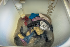 Doing our weekly load of laundry..check out the water!