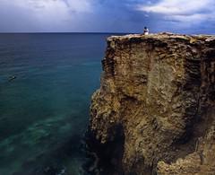 At the Edge (GOJR.) Tags: sea cliff seascape film analog island rocks puertorico 6x7 caborojo velvia50 mamiyarb67pros meduimformat ncps mamiyasekorc90mmf38 sekonic358l