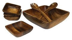ACBSQ7 (mountainwoods) Tags: wood utensils set square wooden salad 7 bowl seven piece serving acacia hardwood mountainwoods acbsq7