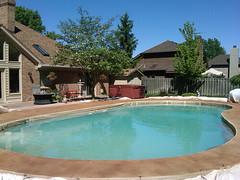 Pool Deck - Texture & Stain (Decorative Concrete Kingdom) Tags: brown texture stain pool deck smiths