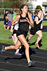 200 METERS (MIKECNY) Tags: field race highschool trackfield 200m stride compete mechanicville