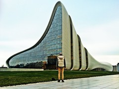 Back View. Baku,Azerbaijan (Alexandr Tikki) Tags: street city travel man building art beauty wow town amazing cool perfect place capital creative super baku azerbaijan future arcitecture inspire incredible tikki baki leveltravel