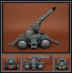 Mounted Artillery (Karf Oohlu) Tags: lego cannon artillery moc howitzer mountedgun towedartillery mountedartillery towedgun