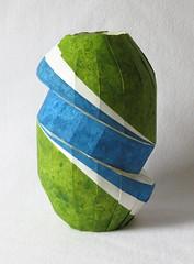 Doubly bent vase (rgieseking) Tags: art paper origami bend diagonal vase bent