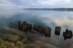 A Different View (Note-ables by Lynn) Tags: water clouds reflections georgianbay shoreline colpoysbay