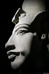 Head of Akhenaten (Merja Attia) Tags: alexandria museum ancient sandstone egypt aten 18thdynasty akhenaten ancientegypt statuehead newkingdom amarna nationalmuseumofalexandria akhetaten