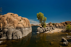 Watson Lake, Prescott (p r a t y u s h 360 | PHOTO) Tags: blue arizona sky lake southwest tree water canon rocks outdoor boulder prescott canon5d3 canon2470ii