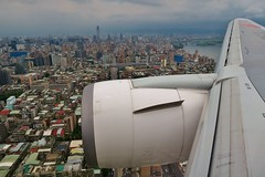 Before landing Taipei Songshan Airport (namhdyk) Tags: canon airplane taiwan taipei  airplanewindow windowseat canonpowershot  airplanewing canonpowershotg7x