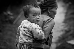 Vietnam: la grand-mre et l'enfant (ethnie des Hmong blanc). (claude gourlay) Tags: portrait blackandwhite bw face asia retrato nb vietnam asie ethnic minority ritratti indochine tonkin hagiang meovac ethnie minorit claudegourlay hmongblanc
