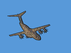 Is it a bird? is it a plane? (Durley Beachbum) Tags: plane newt digitalmanipulation