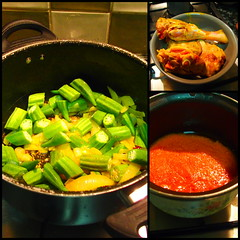Add the okra to the moamba sauce (rgrant_97) Tags: food cozinha africana moamba galinha chicken kitchen cokkery