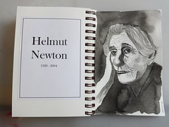 Helmut Newton (lloydboy52) Tags: helmutnewton photographer fashion glamour fineart nude drawing inkdrawing inkwashdrawing caricature portrait artist artisticgenius tribute sketchbook sketch illustration