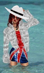 unionJack (SoakinJo) Tags: wetlook wetclothes wetfur wetdress unionjackdress