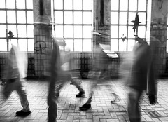 movement (Georgie Pauwels) Tags: street people blackandwhite window monochrome movement blurry fuzzy candid streetphotography going fujifilm