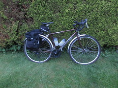 Bike ready for early morning trip to Dunwich (WildSwimmingCyclist) Tags: bike dawes supergalaxy