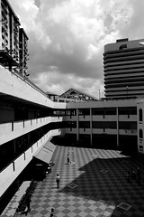 IMG_1713 (jumppoint5) Tags: city light people urban blackandwhite building clouds contrast shadows estate hdb rochor