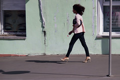 Close your Eyes (Ktoine) Tags: street shadow girl russia walk moscow candid profile heels