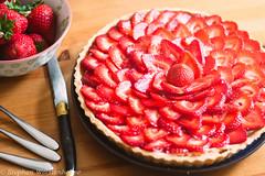 wimbledon strawberry tart (swolstenholme1977) Tags: bakingprojectbbqsaucestrawberrytart strawberries tart food foodporn dessert pastry cream british english homemade homebaked foodblogger