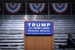 Donald Trump podium (Gage Skidmore) Tags: arizona phoenix memorial state fairground rally donald coliseum trump campaign veterans 2016