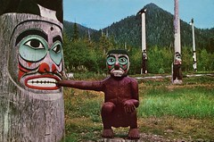 The Rock Oyster Totem Pole, Ketchikan, Alaska (SwellMap) Tags: architecture vintage advertising design pc 60s fifties postcard suburbia style kitsch retro nostalgia chrome americana 50s roadside googie populuxe sixties babyboomer consumer coldwar midcentury spaceage atomicage