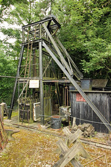 Dudley working shallow coal mineshaft (David Russell UK) Tags: england black west wheel museum living mine outdoor country mining dudley winding coal shaft midlands