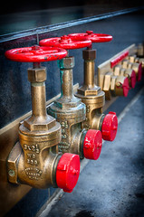 Fire Department Connection (Photos By Clark) Tags: california red downtown unitedstates sandiego cities places location where valve northamerica nik hdr lightroom locale fdc canon1740 canon60d