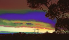 Rainbow Sunset! (maginoz1) Tags: winter sunset abstract art contrast canon rainbow curves july surreal australia melbourne manipulation victoria gumtree 2016 bulla 100d