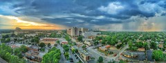 Limited evening showers (Pejasar) Tags: limited rain clouds oklahoma cityscape skyline tulsa panoramic