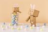 The Danbo Bunnies (Arielle.Nadel) Tags: stilllife bunnies easter eggs yotsuba danbo toyphotography revoltech よつばと danboard ダンボー canon5dmarkiii