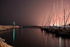 ocean sea lighthouse color night sailboat dark harbor israel boat telaviv waterfront view dusk