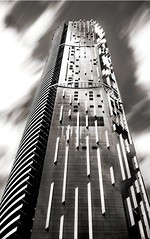 Tall Living (mTuffy) Tags: longexposure blackandwhite bw building monochrome architecture apartment australia competition brisbane structure queensland tall 10stopfilter canon5dmarkiii