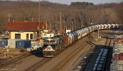NS #1070 @ Oregon, IL (Michael Polk) Tags: chicago heritage oregon burlington train quincy illinois norfolk southern signals oil depot bnsf wabash unit searchlights 1070