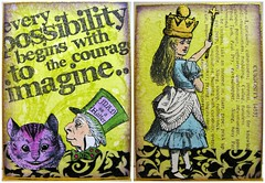Imagine Alice in Wonderland (bluemama) Tags: aliceinwonderland rubberstamps swapbot inspirationcards